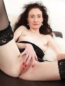 Small titted British housewife masturbates alone