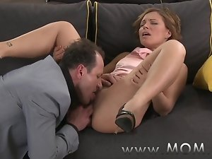 MOM Brunette MILF gets fucked before date night starts
