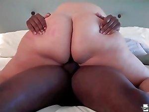 BBW MILF gets black big cock