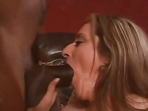 Big natural boobs mature interracial threesome and DP