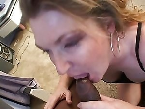 Mature babe loves that black cock in her ass