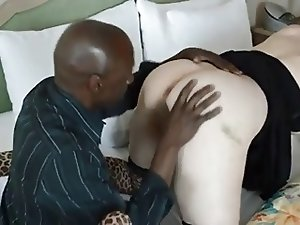 BBW wife take a bbc for her ass (cuckold)