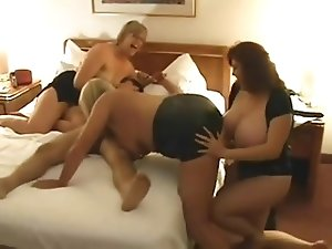 Group Sex #6 One Granny, Two Thick Matures & One Lucky Guy