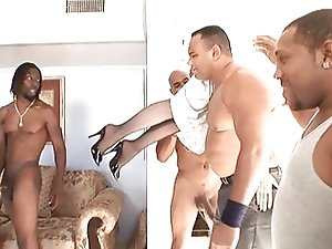 Nina Hartley Gangbanged by Black Gang