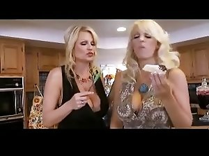 Two Crazy Busty Mom Fucking Lucky Guy