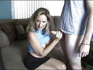 Mom Gives Handjob toYoung Boy