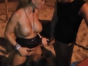 German Mom dogging on the Beach