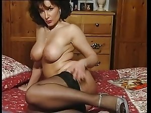 Hot Brunette Busty Milf Teasing in various outfits V SEXY!