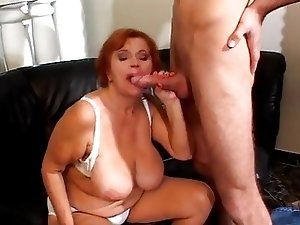 Big Boob Grandma Needs Young Hard Cock