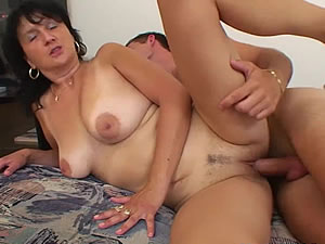 Busty Stepmom and Stepson have fun in bedroom